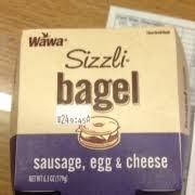 wawa wawa sizzli bagel sausage egg
