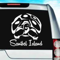 Sea Turtle And Freshwater Turtle Car Window Decals Stickers