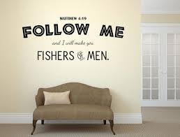 Fishers Of Men Bible Christian Wall Decal Matthew 4 19 Decal Etsy Christian Wall Decals Living Room Decals Wall Decals