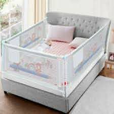 Baby Bed Fence Kid Playpen Safety Gate Child Barrier Crib Rails Security Fencing Ebay