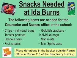 ida burns snacks march 2019 - First United Methodist Church - Conway, AR