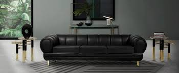 outstanding black leather sofas