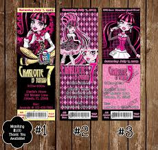 Amazon Com Monster High Draculaura Cumpleanos Ticket Invitacion