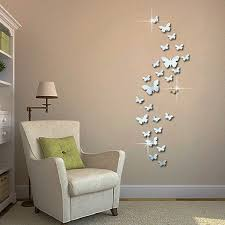 12pcs 3d Mirrors Butterfly Wall Stickers Decal Wall Art Removable Room Party Wedding Decor Home Deco Wall Sticker For Kids Room Wall Stickers Aliexpress