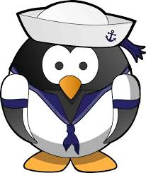 3 875inx4 75in Navy Sailor Penguin Bumper Sticker Decal Car Window Stickers Decals Stickertalk