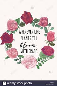 wherever life plants you bloom grace floral wreath life