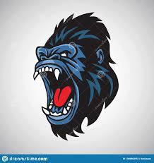 angry gorilla mascot cartoon logo