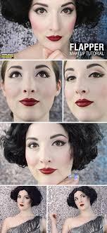 flapper costume makeup