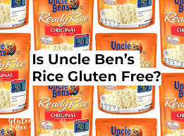 is uncle ben s rice gluten free