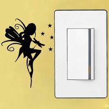 Yjzt Pretty Fairy Funny Personality Accessories Wall Decal Light Switch Sticker S18 0003 Aliexpress