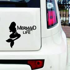 Mermaid Life Decal Sticker Ariel Mermaid For Car Truck Laptop Tablet Color Black Silver Yellow Red Wish