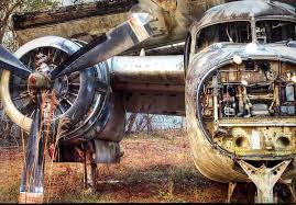 Face of Death by Walter Arnold Photography at the airplane graveyard St  Augustine FL. : aviation