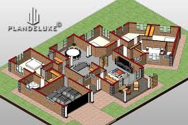 5 bedroom single story house floor plan