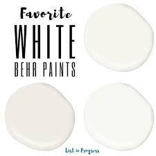 favorite behr white paint colors list