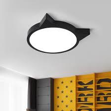 Children S Room Led Cat Ceiling Lamp Iron Acrylic Creative Ceiling Light For Bedroom Living Room Kids