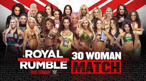 WWE ROYAL RUMBLE 2020 - 30 Woman Royal Rumble Match - YouTube