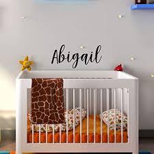 Amazon Com Vinyl Wall Art Decal Girls Name Abigail 12 X 28 Girls Bedroom Vinyl Wall Decals Cute Wall Art Decals For Baby Girl Nursery Room Decor 12 X