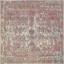 6 x 6 square blue outdoor rugs