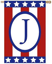 com patriotic monogram flag