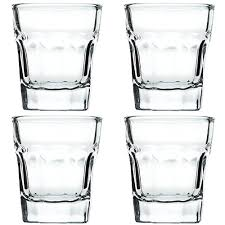 shot glass set 4 glasses heavy base