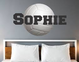 Volleyball Wall Decal Etsy