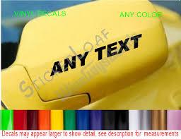 Stickerloaf Com Any Text Custom Car Truck Side Mirror Decals Set 2