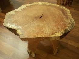 red oak rustic stump wood accent coffee