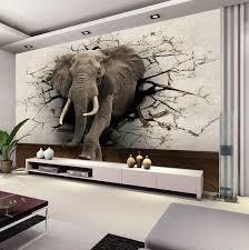 custom 3d elephant wall mural