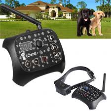 Wholesale Wireless Pet Dog Training Shock Collar Fence Containment Trainer U S Regulations From China