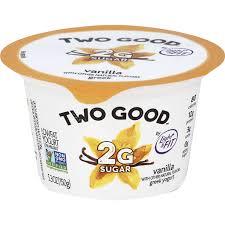 light and fit two good yogurt vanilla