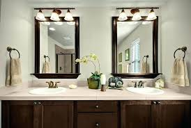 cherry framed mirrors for bathrooms