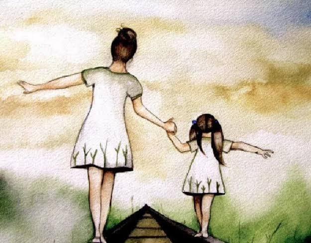 Resultado de imagem para mae e filha de mãos dadas
