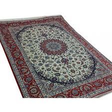 unique esfahan handmade persian rug