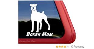 High Quality Cropped Boxer Dog Window Decal Sticker Boxer Mom