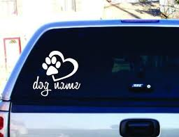 Your Dog Name Decal Car Sticker Vinyl Lettering White Etsy