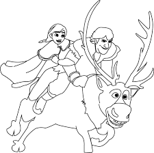 olaf and sven coloring pages at