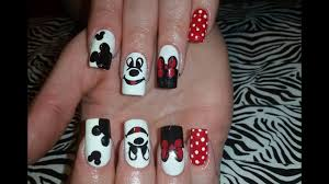 Acrylic Nails l Mickey Mouse Inspired l Nail Design - YouTube