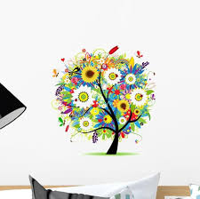 Floral Tree Beautiful Wall Decal Wallmonkeys Com