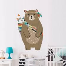 Bear Wall Sticker Woodland Animal Bear Decals Kid Room Nursery Room Murals Art Ebay