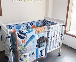 baby boy cot crib bedding set