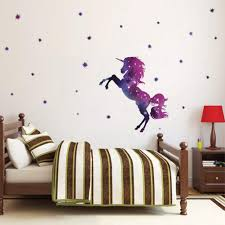 Bamsod Dream Unicorn Wall Stickers Kids Wall Decals Art For Girls Boys Bedroom Home Decor 14 X23 6 Unicorn Rainbow Shop