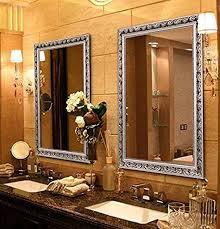 large rectangular bathroom mirror wall