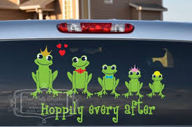 Frog Family Decal Set Frog Family Stick By Goodgollygraphics Family Decals Stick Figure Family Stick Family