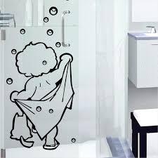 shower wall stickers bathroom glass