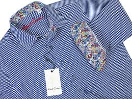 Robert Graham 29504 Boy's Sport Shirt-Check - Navy - Heritage House Boy's  Suits