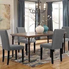 Walnew Set Of 4 Modern Upholstered Dining Chairs With Wood Legs Gray Walmart Com Walmart Com