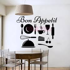 Stickers Cuisine Bon Appetit French Wall Sticker Vinyl Wall Decals Wallpaper For Kitchen Room Wall Paper Home Decor Wallpaper Decal Decal Paperwallpaper Luxury Aliexpress
