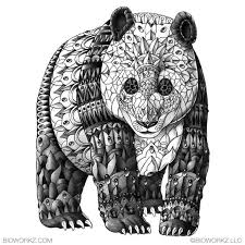 Panda By Bioworkz On Deviantart Kleurplaten Mandala Kleurplaten