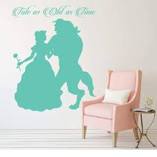 Amazon Com Princess Belle Wall Decal Beauty And The Beast Theme Bedroom Decor Tale As Old As Time Handmade