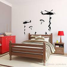 Helicopter Army Soldier Wall Stickers Vinyl Art Decals Teens Boys Men Military Fans Bedroom Home Decoration Contemporary Wall Stickers Cool Wall Decal From Joystickers 14 02 Dhgate Com
